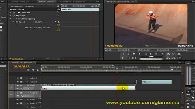 Premiere Pro CS4 – Tutorial frame hold mais time remapping.