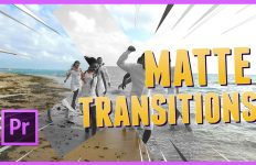 adobe premiere matte transitions transições