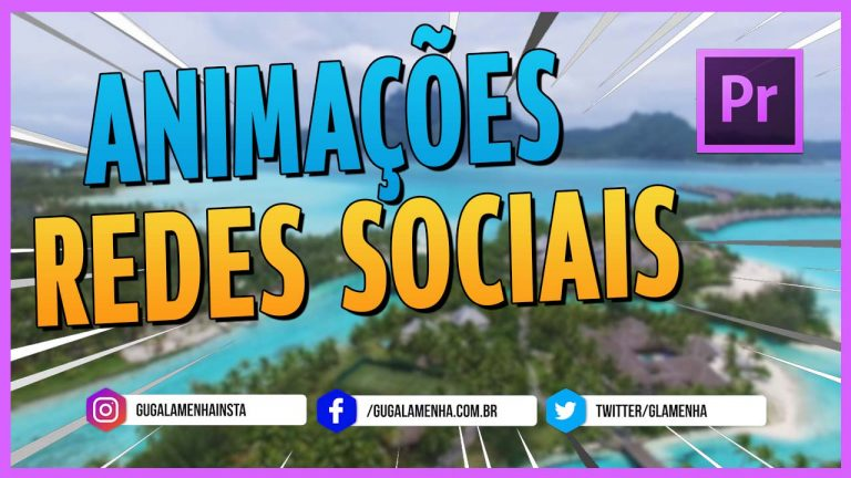 ADOBE PREMIERE – ANIMAÇÕES de REDES SOCIAIS – Instagram-Fecebook-Twitter – LOWER THIRDS