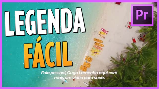 TEXTO LEGENDA ANIMADA no Adobe PREMIERE